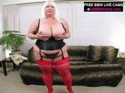 Huge Blonde Girl Masturbates Puffy Pussy With Toy