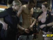 These busty MILFs are ready to have fun with this nasty black criminal!