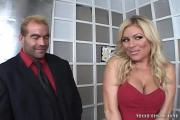 Busty Blonde Bitch Blows Rides A Huge Boner