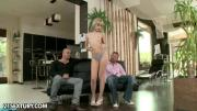 Slim Blonde Fucked By Alain And David