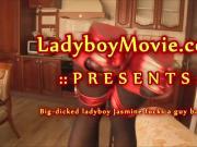 Hung Ladyboy Jasmine Fucks A Guy Bareback