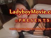 Thai Shemale Pornstar Many Fucked Bareback