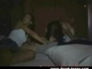 Drunk Girls Give Blowjob And Swallow