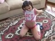 Tight Cheerleader Sucks Like a Vacuum