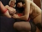 2 horny matures fuck side by side