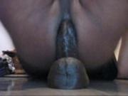 Guy masturbates with dildo in his ass