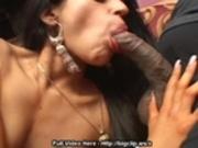 Indian Enjoys Two Cocks