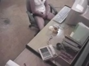 Hidden Security Spy Cam Caught Office Girl Masturbating
