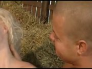 Blonde Gangbanged in a Hay Stack