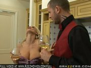 Holly Halston Decides To Have The Waiter Serve Her