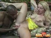 Pale white girl fucked by dark hunk