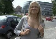 Euro Whore Gets Talked Into Giving Handjob For Money