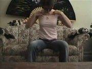 Sexy Panthera undressing