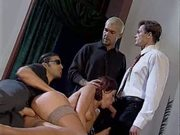 Deborah Wells in hot foursome
