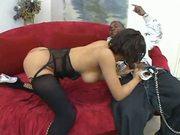 Ebony mama gets her fat pussy fucked