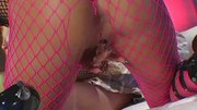 Krystal Steal:Fabulous Krystal Steal fishnet fucked hard