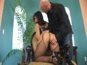 Christina Aguchi bound asian cock slave