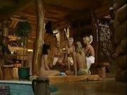 Hot hardcore sauna orgy!