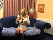 Beautiful Busty Blonde pussy playing