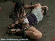 Pain slut takes some brutal punishment & orgasms