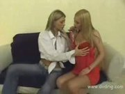 Milf lesbians on the couch
