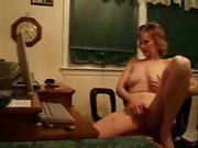 Mature Woman Rubs Her Clit