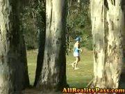 Horny golf teen black cock pounding