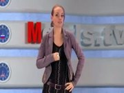 Russian Moscow Girl Doing TV News
