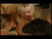 Teens in a Huge Sauna Orgy