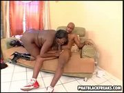 Large ebony riding black guy