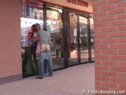Public-Sex By A Store Window