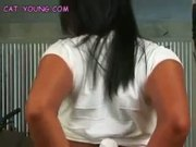 Black Thonged Asian Teen