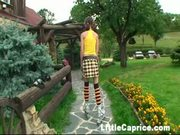 Lil Caprice Rollerblading To A Quiet Spot For Her Own Pleasures