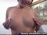 Vanessa jerks her pussy