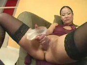 Moonster cock rams tight asian pussy