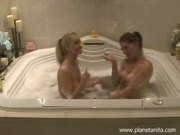 Anita Dark & Tyler Stevens Babysit Eachother In The Bath