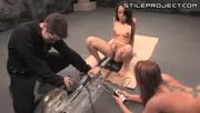 Messy Squirting From Rapid Thrusting Dildo Fucking Machine