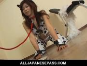 Sweet Asian Hottie Rui Aikawa Hammered In The Throat Pussy