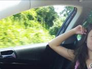 Eurobabe Anita B fucked in the backseat