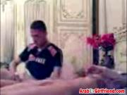 Arab girlfriend fingered while kissing boyfriend
