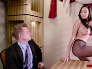 Sexy latina Karlee Grey is fucked on office