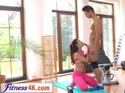 As a prize for a good workout Lady Dee gets huge dick from her trainer