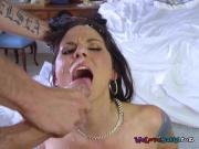Sexy Bride Simony Diamond Gets Drilled And Facialized