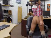 Erotic beauty Tyler gets fucked in the pawnshop while wearing a fur coat