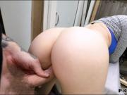 Alessa Sage pounded in a vacant place for some money