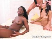 Ebony Sluts Take Turns Getting Plowed By Delivery Guy