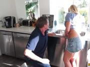 Richie pounding Summer Days stretched pussy hard