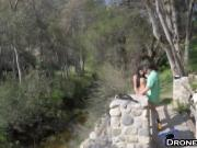 Busty Brunette Jaclyn Taylor Strips And Fucks On Wooden Bridge