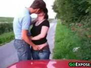 Young Couple Having Sex Outside