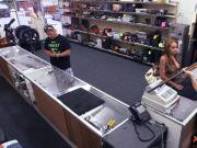 Gorgeous latina chick gets nailed in the pawnshop for money